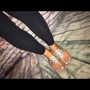 GUC Tory Burch Miller sandals spark gold